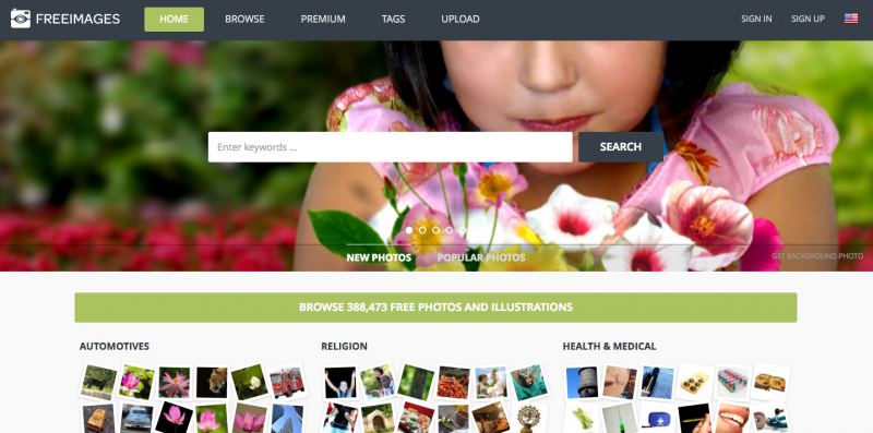 Free Images Homespage