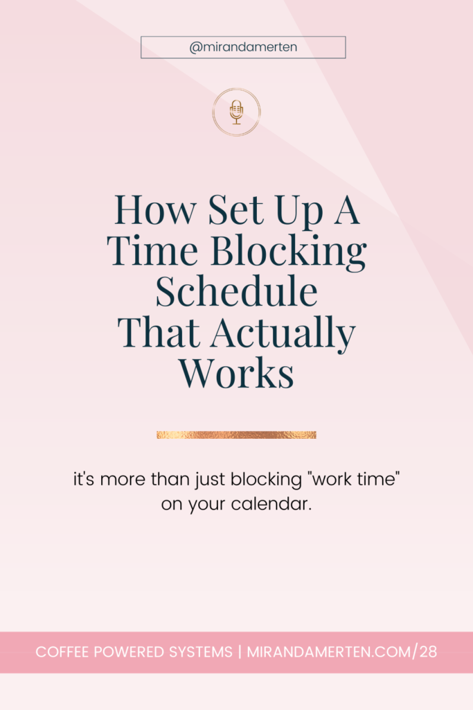 How Set Up a Time Blocking Schedule That Actually Works