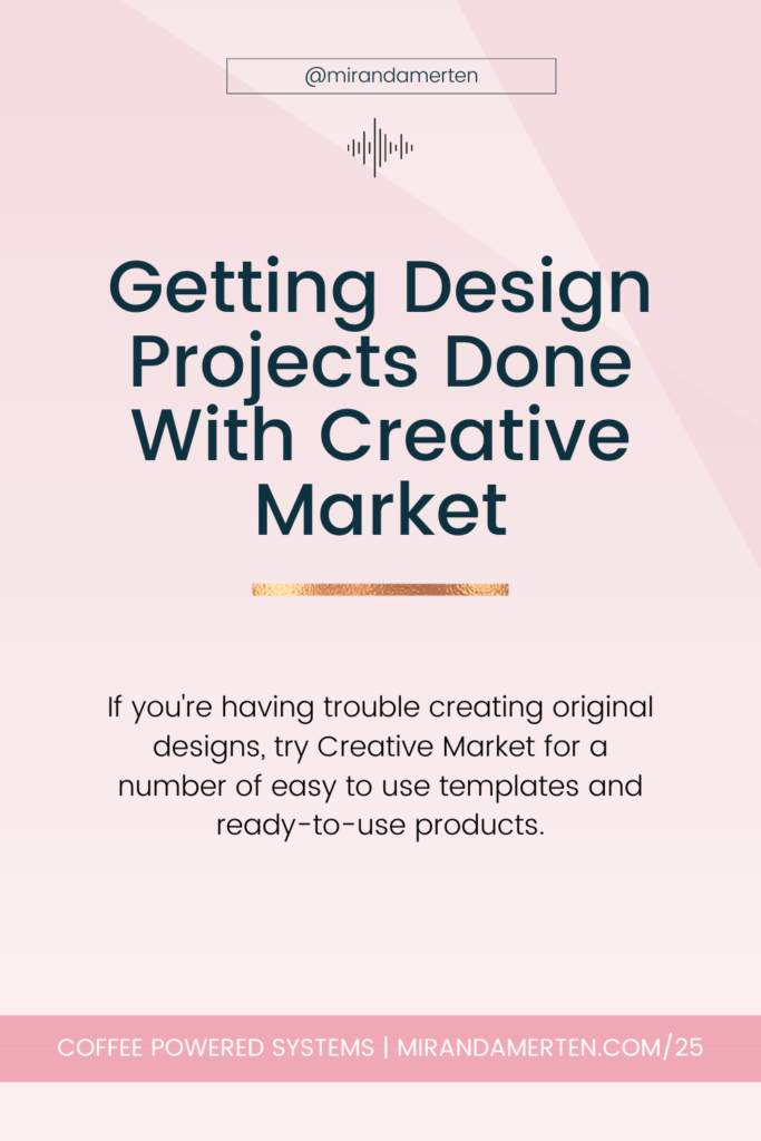 Getting Design Projects Done with Creative Market