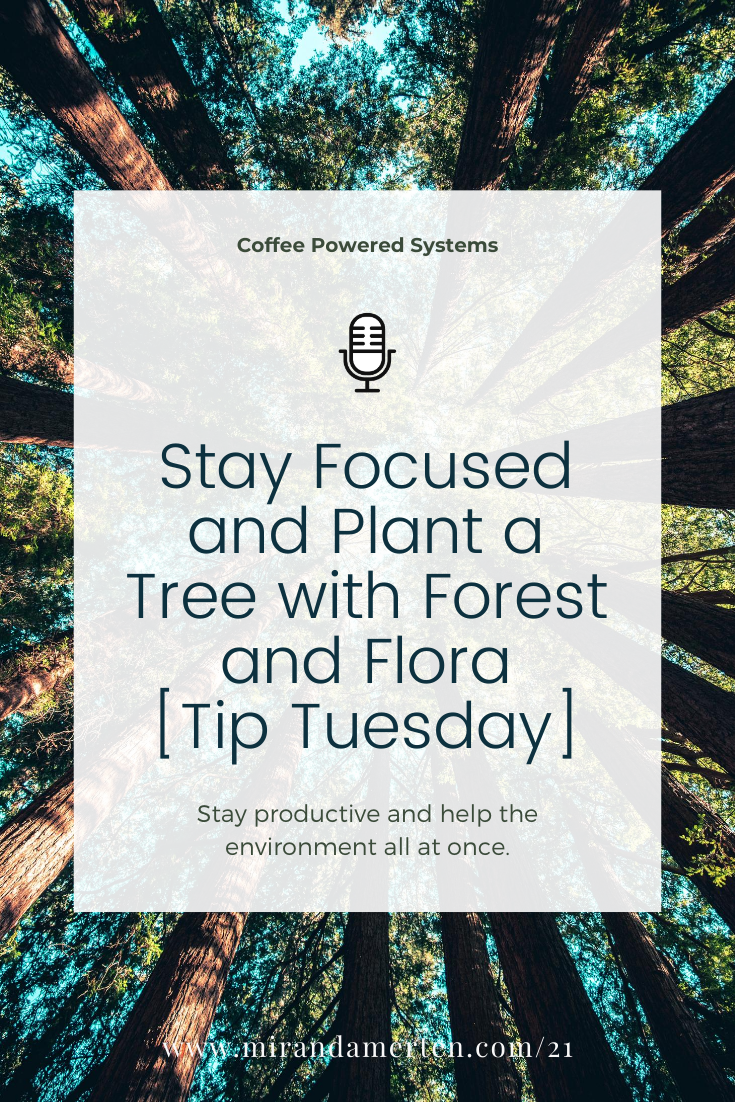 Stay Focused and Plant a Tree with Forest and Flora