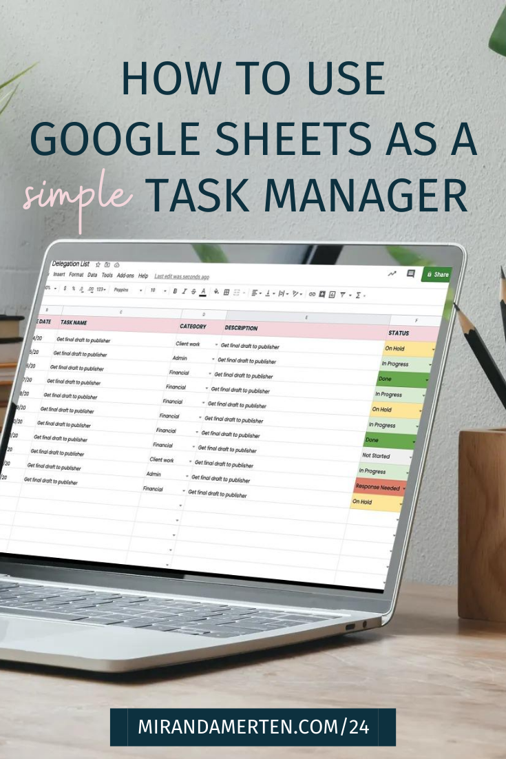 How to Use Google Sheets as a simple task manager